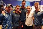 ప్రపంచకప్లో టెన్నిస్ క్రీడాకారిణి.. ఆటగాళ్లతో సరదా ముచ్చట్లు