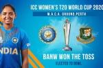 టీ20 ప్రపంచకప్: టాస్ గెలిచి బౌలింగ్ ఎంచుకున్న బంగ్లా.. మ్యాచ్కు మంధాన దూరం!!