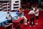 Tokyo Olympics 2021: రింగ్ వద్ద బాక్సర్ నిరసన.. కారణం ఏంటంటే?