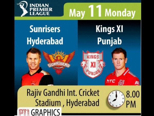 Ipl 2015 Daily Guide Match 48 Sunrisers Hyderabad Vs Kings Xi Punjab