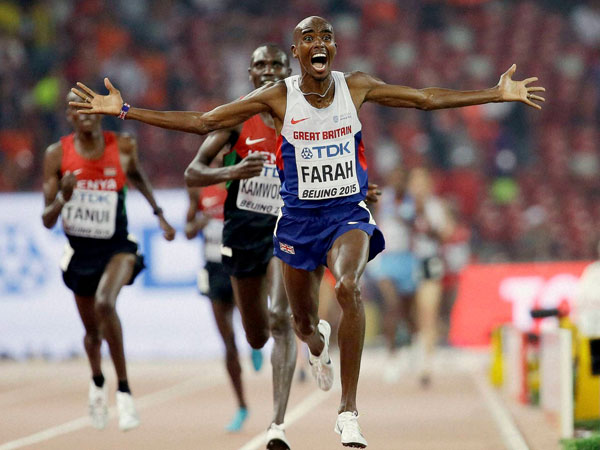 Mo Farah Wins 10 000m World Championships Gold