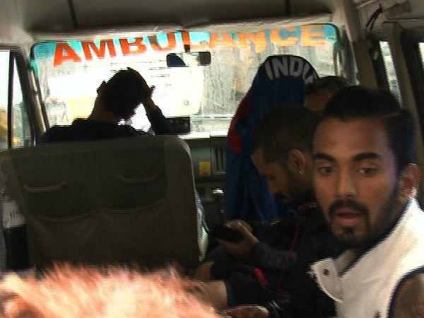 Bengaluru Test Indian Players Travel Ambulance Reach Hotel