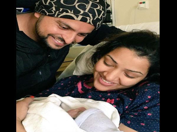 Pics Suresh Raina Becomes Father A Baby Girl Names Her Gracia