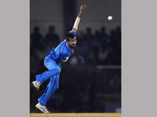 India V England 3rd T20 Yuzvendra Chahal Hits The Biggest Six