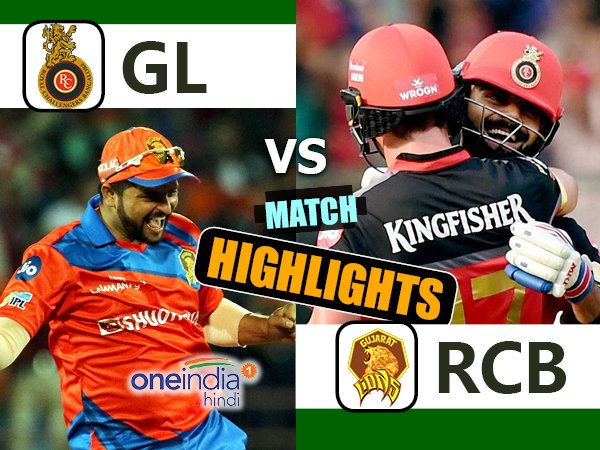 Ipl 2017 Match 31 Highlights Bangalore Vs Gujarat Rcb Post Another Low Total