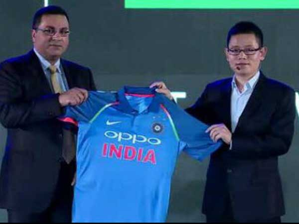 Bcci Unveils Team India S New Jersey With Oppo As Sponsors