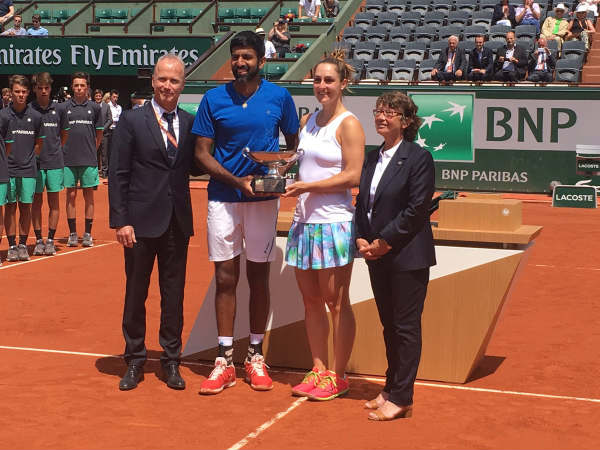 French Open Rohan Bopanna Gaby Dabrowski Clinch Mixed Doubles Title