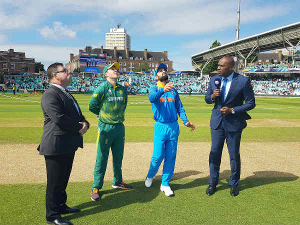 India win the toss and elect to field first against South Africa