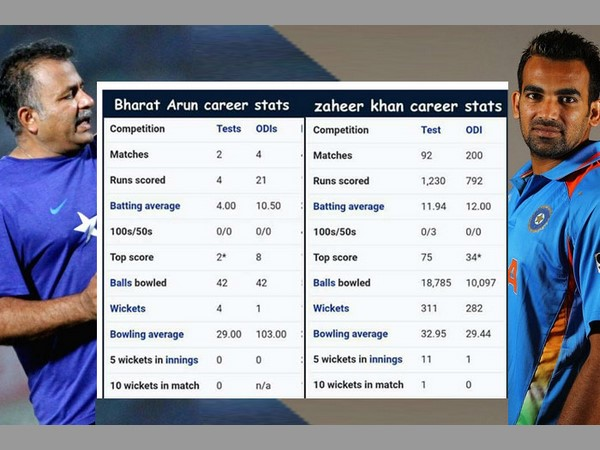 In Stats How Bharat Arun Is Better Than Zaheer Khan