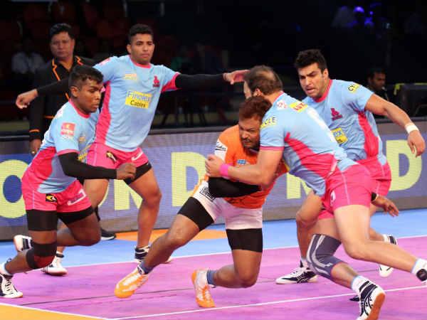Jaipur Pink Panthers Hold Off Puneri Paltan First Win The Season