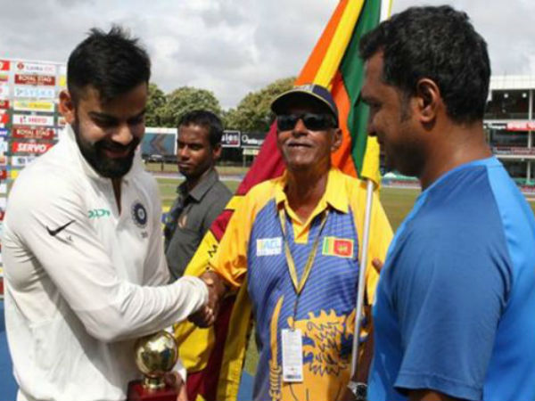 Team India Gifts Sri Lankan Superfan Uncle Percy Signed Team