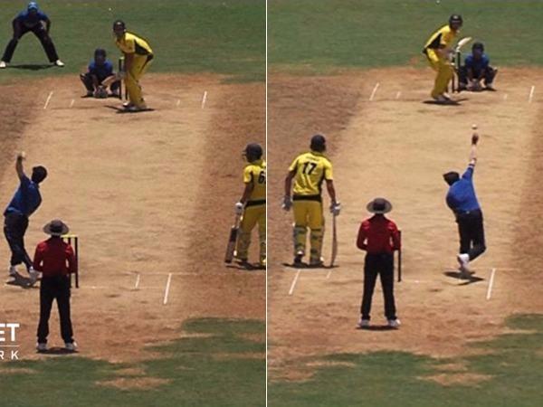 Watch Vidarbha Spinner Akshay Karnewar Bowls With Both Hands Stuns Australia Marcus