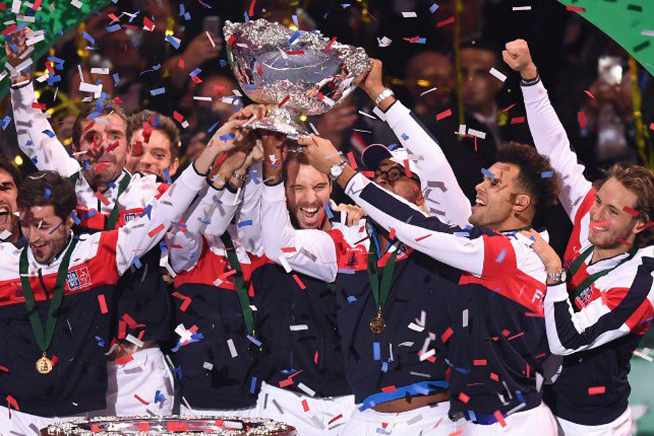 France Win 10th Davis Cup Title Beating Belgium 3 2 The Final