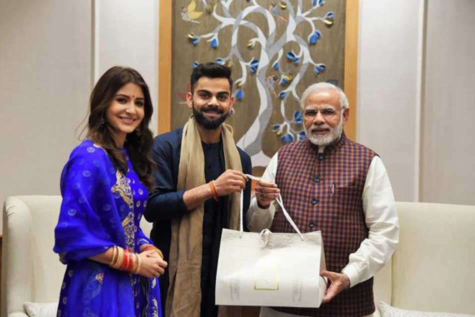 Out On 99 Twitter Turns Virat Anushka S Meet With Modi Into Hilarious Memes