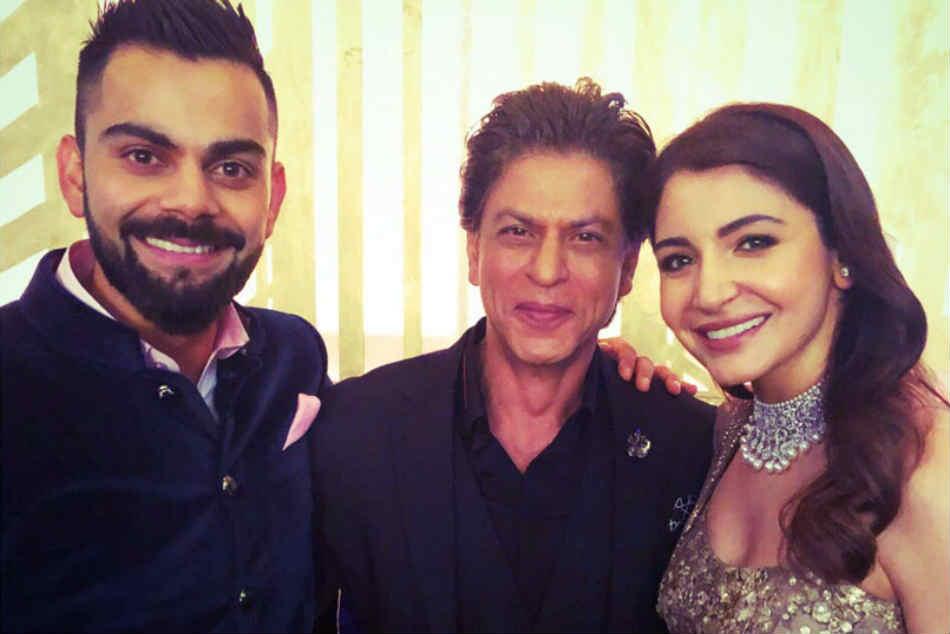 Watch Virat Kohli Anushka Sharma Can T Stop Dancing As Shah Rukh Khan Joins