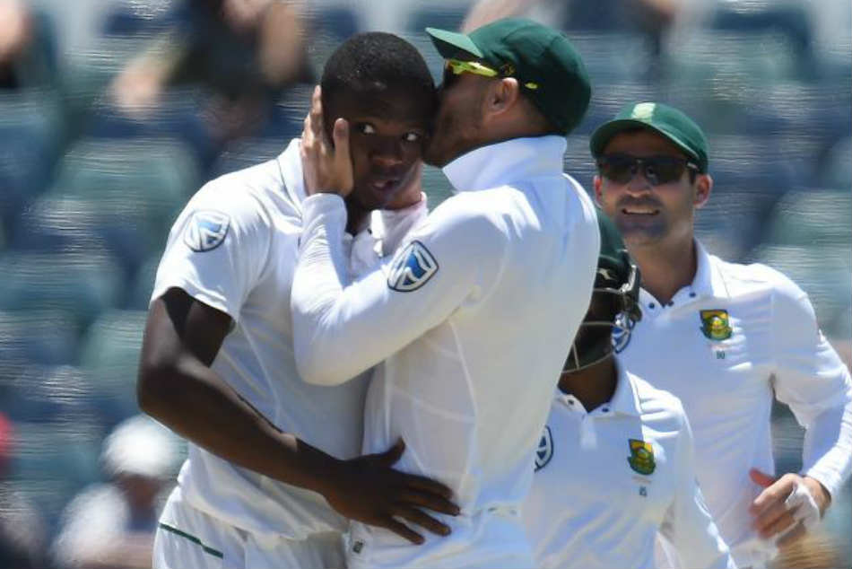 Faf Du Plessis Shares Photo Kissing Rabada Bowler Says His Girlfriend Isnt Happy