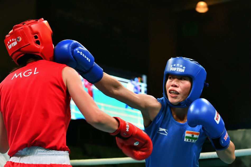 Mary Kom Claims Gold India Open Boxing Pinki Jangra Pwila Baumatary Add To Gold Haul