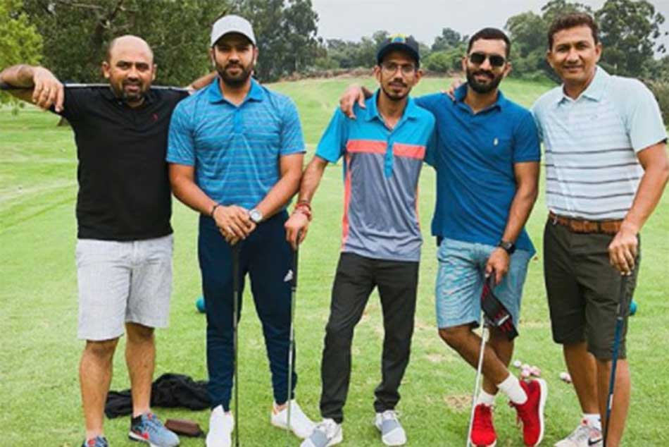 Rohit Chahal Dinesh Karthik Have Field Day On Golf Course