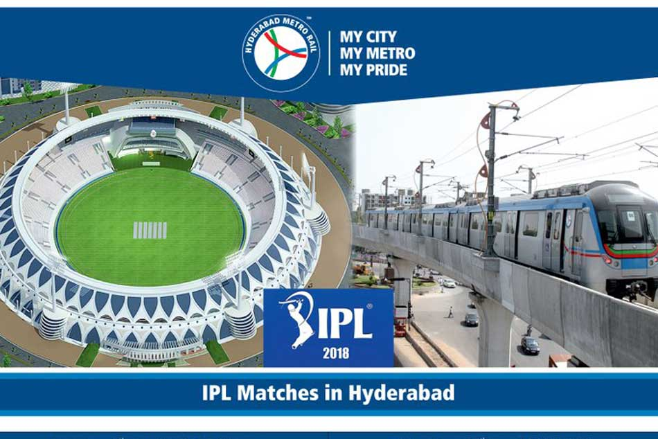 Hyderabad Metro to run midnight service for IPL matches