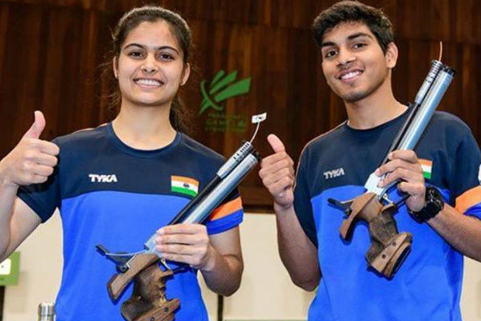 Junior Shooting World Cup Bhaker Anmol Wins Air Pistol Mixed Gold