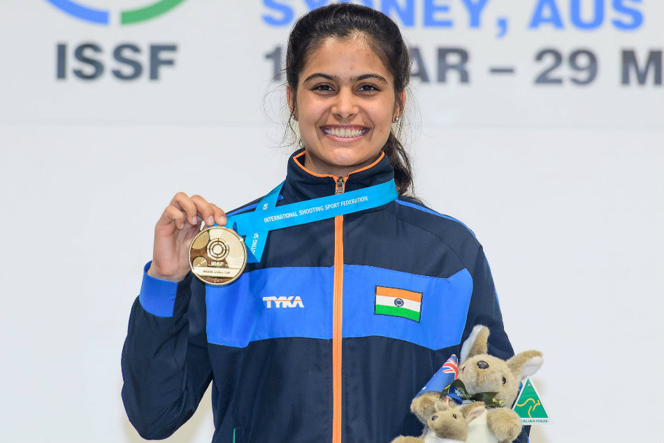 Manu Bhaker Shoots Gold Junior World Cup