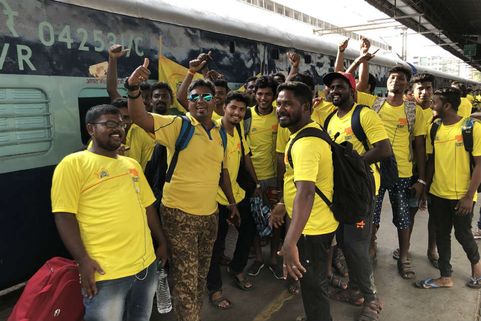 All Aboard The Whistle Podu Express Train Full Csk Fans Set