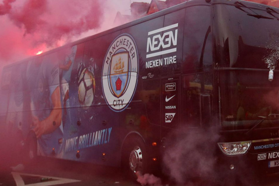 Liverpool face UEFA charges for damaging Manchester City bus