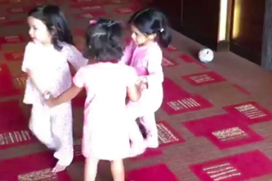 Watch: Suresh Raina, MS Dhoni, Harbhajan Singhs Daughters Give Us Friendship Goals