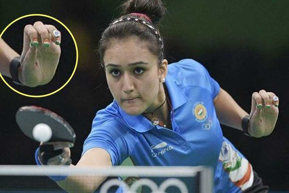 We Are Absolutely Love With Manika Batra S Tricolour Nails At Cwg