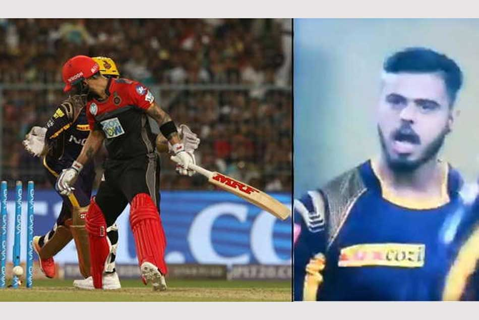 Ipl 2018 Kkr V Rcb Nitish Rana Abuses Virat Kohli After Taking His Wicket Video Goes Viral
