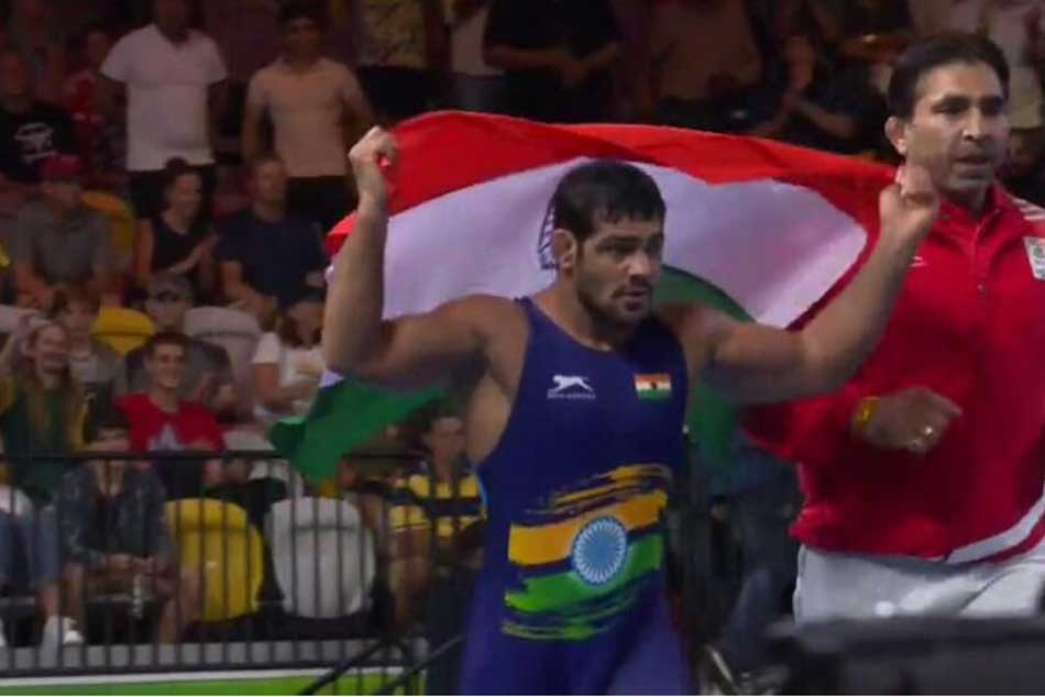 Commonwealth Games2018 Wrestler Sushil Kumar Wins Gold Mens Freestyle 74 Kg Category
