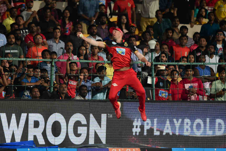 IPL 2018, RCBvSRH: Is it a bird? Is it a plane? Its AB de Villiers - Twitter stunned after ABDs jaw-dropping catch