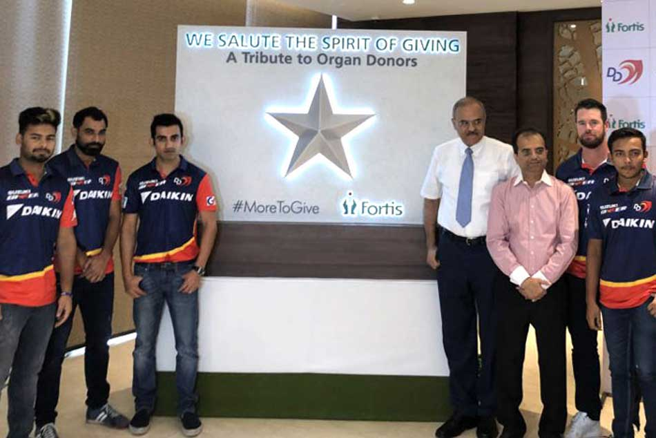 Delhi Daredevils Pledge Donate Their Organs