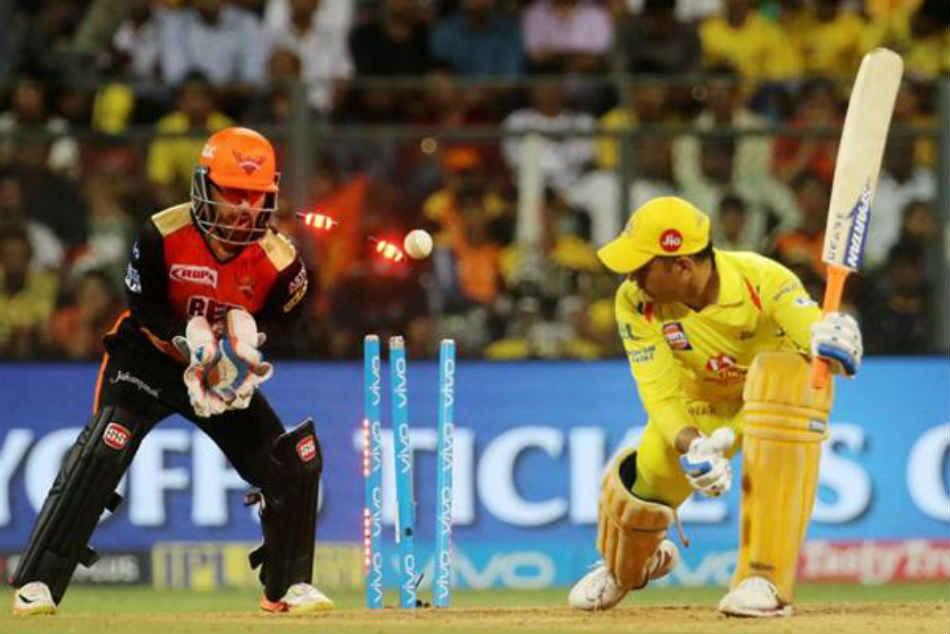 Ipl 2018 Qualifier 1 Rashid Khan Gets Ms Dhoni Wicket