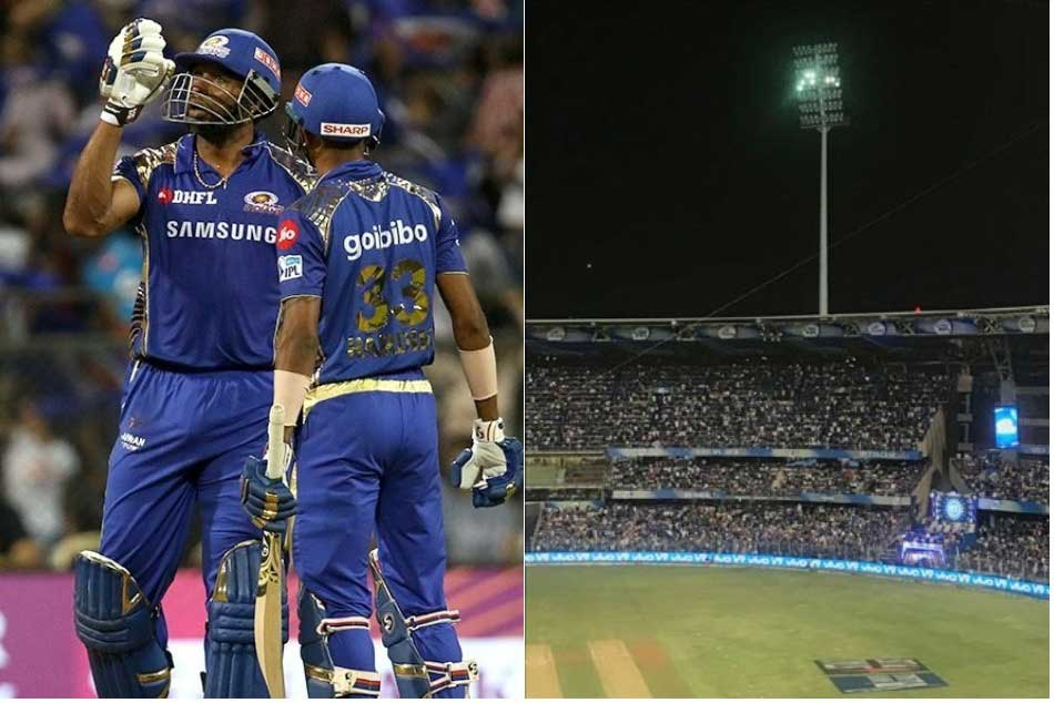 Mumbai Indians Lights On Off At Wankhede These Flashlight Won Our Hearts