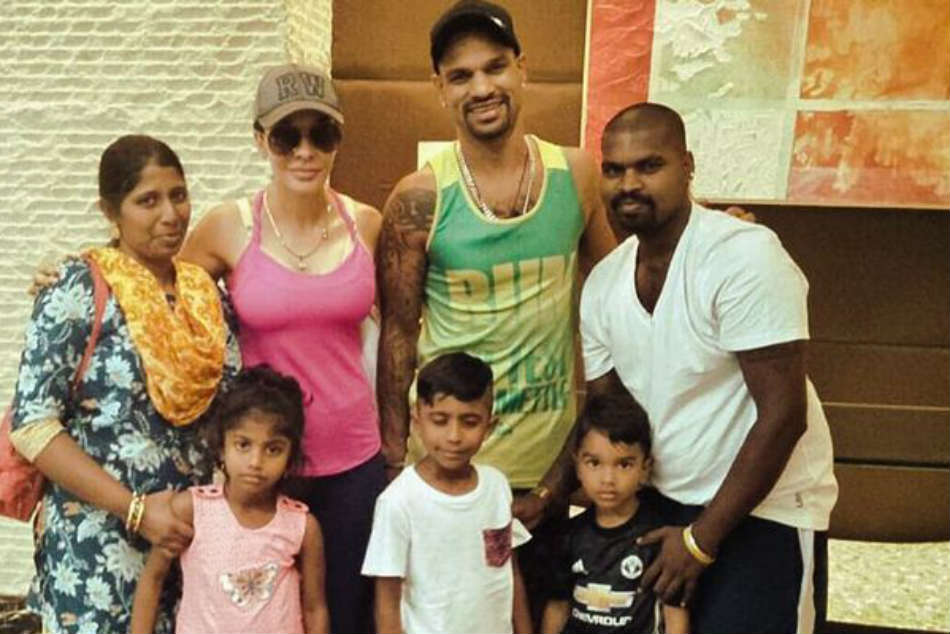 Shikhar Dhawan Humbled Meet Fan His Family Who Came The Way From Bangalore