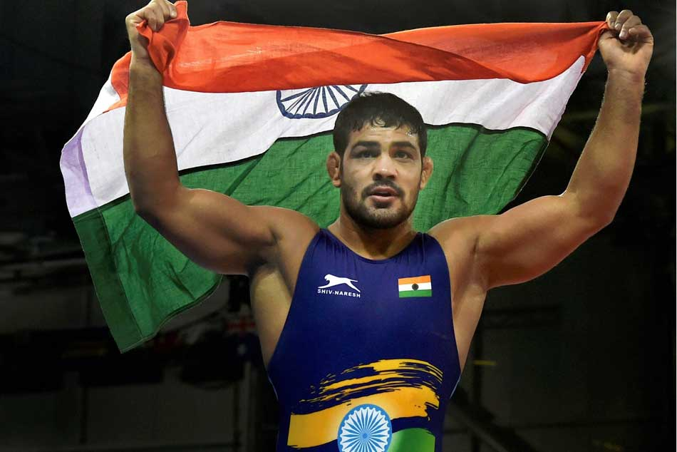 In The 18th Asian Games Indonesia The Wrestler Sushil Said Do Good Performance