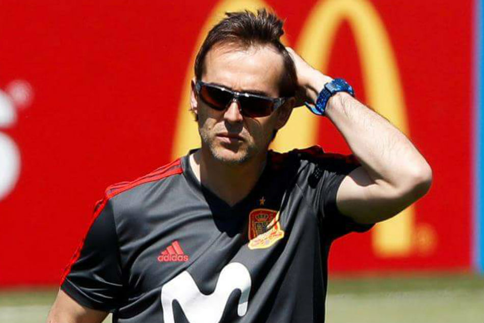 A day before World Cup Spain sack coach Lopetegui