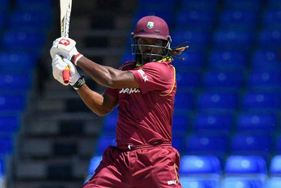 Chris Gayle Equals Shahid Afridis Record For Most Sixes In International Cricket