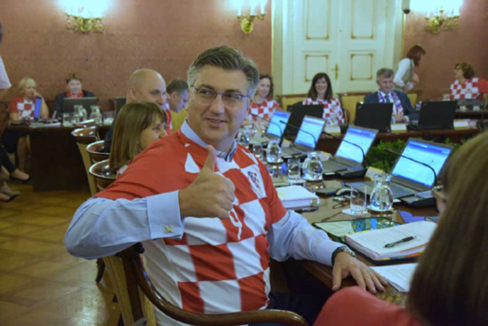 World Cup 2018 Croatia Ministers Wear Football Team Jersey To Cabinet Meeting