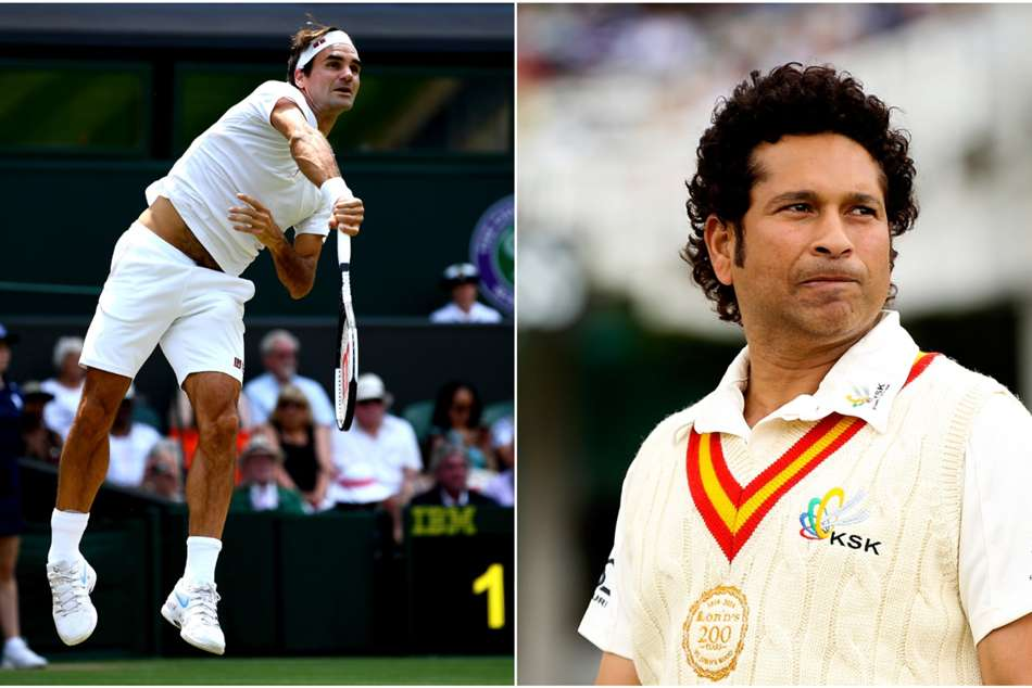Tendulkar offers Federer help with straight drive... in exchange for backhand advice