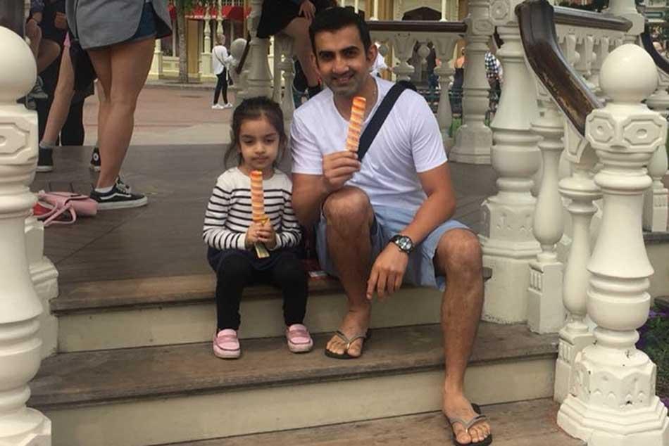 Gautam Gambhir Shares Fun Video Daughter Taking Yo Yo Test