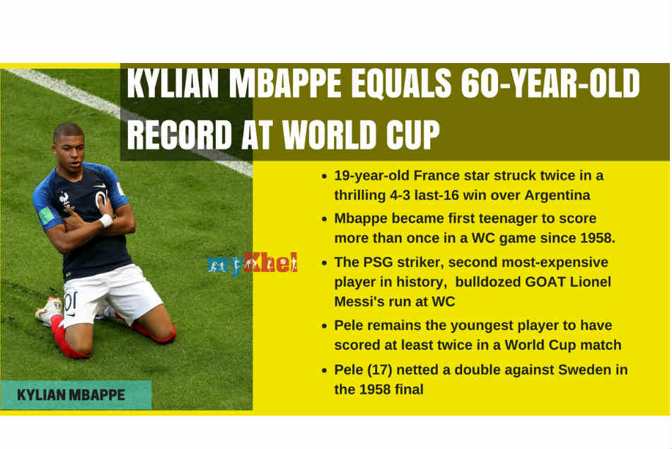 The New Pele Mbappe Matches Brazil Great S 60 Year Old World Cup