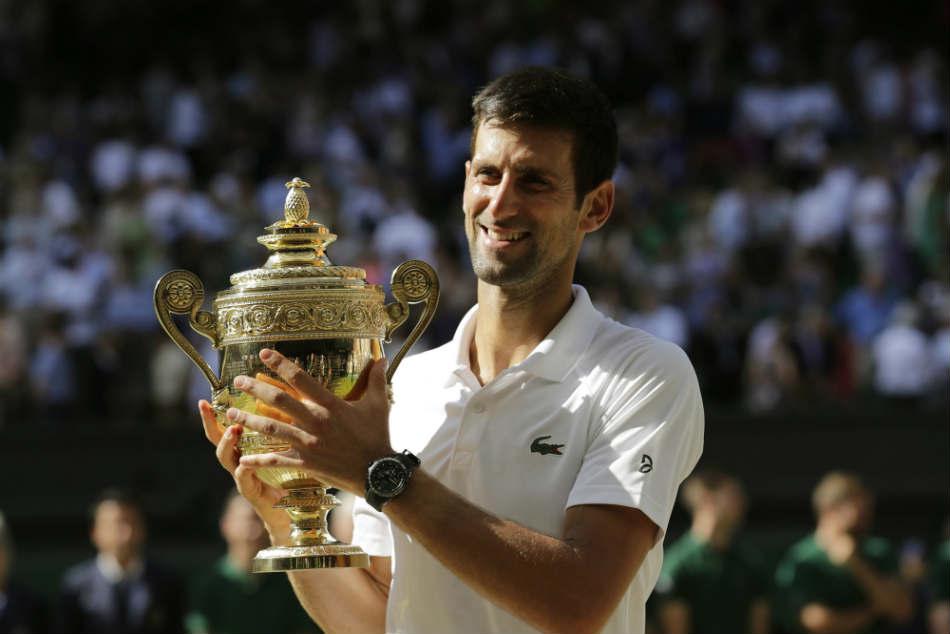 Icymi At Wimbledon Novak Djokovic S Son Steals The Show On Mens Final Day