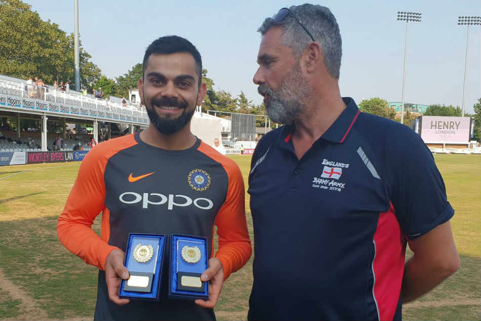 England Vs India: Virat Kohli awarded international cricketer of the year by Barmy Army