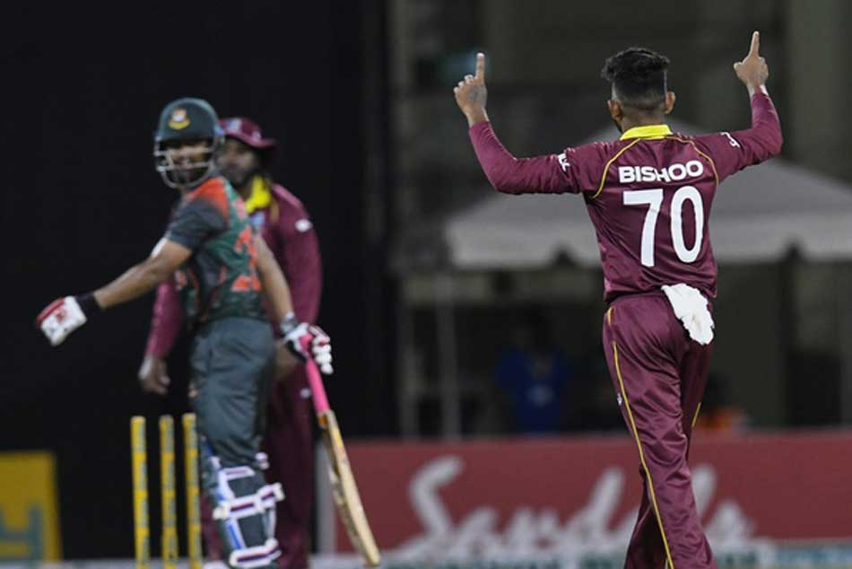 West Indies beat Bangladesh by 3 runs in 2nd ODI