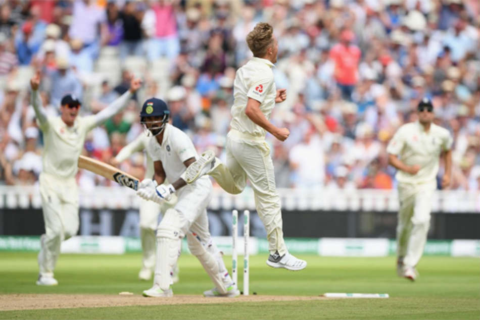 Eng Vs Ind 1st Test Day 2 Three Down As Curran Cleans Up Dhawan