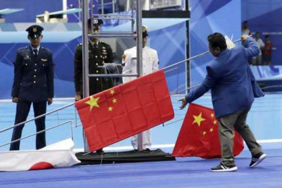 China Japan Flags Off Chinese Gold Rush At Asian Games