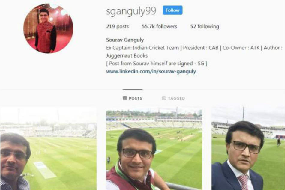 Sourav Ganguly says Instagram account is fake after post advising Virat Kohli and Team India