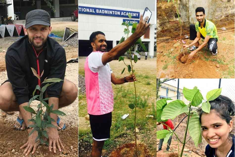 Indian Badminton Players Accepted Green Challenge